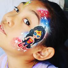 Wonder Woman Face Painting by Fancy Nancy Faces