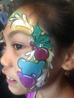 Balloon Christmas Face Painting