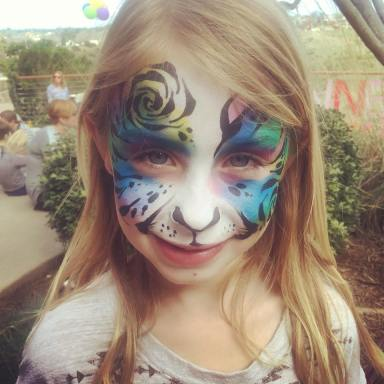 Rainbow Tiger face painting