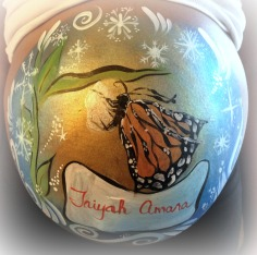 butterfly belly painting Baby Shower Ideas Baby Bump Announcement La Jolla Coronado Chula Vista El Cajon Carlsbad San Diego Face Painting by Fancy Nancy Faces