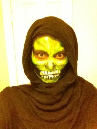 Green Skeleton Halloween Face Paint Zombie Crawl San Diego La Jolla Coronado Events and Parties Fancy Nancy Faces
