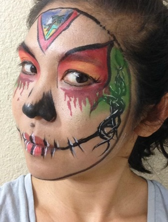 Guahan Chamoru Sugar Skull Dia De Los Muertos Face Painting San Diego Face Painter FancyNancyFaces