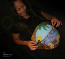 Tropical Belly Paint Guam Aloha Body Painting La Jolaa Coronado Chula Vista El Cajon Carlsbad San Diego Face Painting by Fancy Nancy Faces